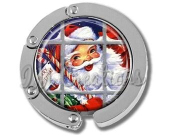 Foldable Bag Purse Hook - Santa Claus FHK187