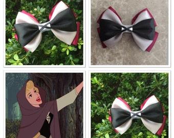 Briar rose hair bow