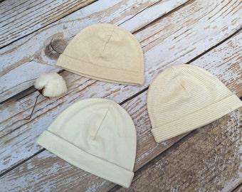 Baby Hat, Organic Baby Hat, 3 Pack, Baby Shower Gift, Baby Beanie, Organic Baby Accessories, Matching Hats, Organic Baby
