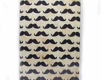 Passport Cover - Moustache Attack - mustache print passport holder - men's or unisex