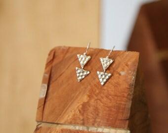 double triangle Dangle drop earrings