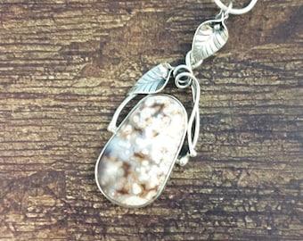 Pastel Garden Ocean Jasper Pendant // Ocean Jasper Jewelry // Sterling Silver // Village Silversmith