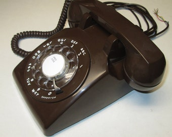 ITT Model 500 Chocolate Brown Rotary Dial Telephone, All Dates Match! Nov 1977
