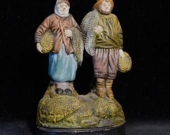 Isle Adam terra cotta figurine--French antique circa 1900