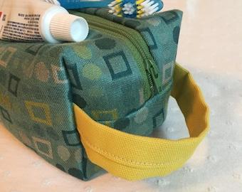 Boxy bag - turquoise geometric