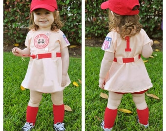 Rockford Peaches Custom Costume for Girls from A League of Their Own