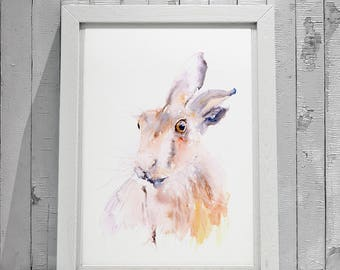 Hare No.4 - Signed limited Edition Print from my original watercolour painting