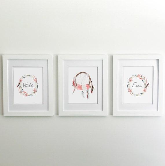 Boho Decor - Boho Dream Catcher - Boho Nursery - Boho Room Decor - Boho Baby - Boho Prints - Boho Baby Shower - Boho Baby Decor - Boho