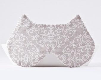 Damask Wedding Sleep Mask, Lace Blindfold, Lace Sleep Mask for Women, Bride Eye Mask, Beige Sleep Mask, Cat Lover Gift, Damask Eye Pillow