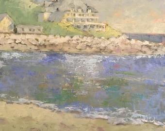 Beach Scene Oil Painting