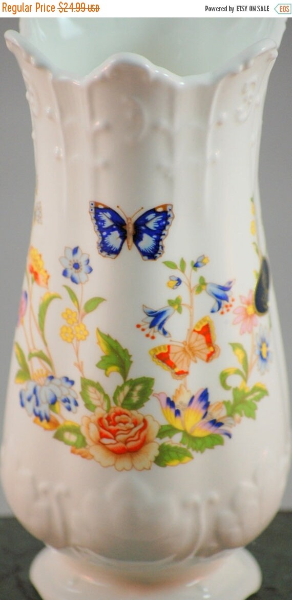 On Sale Now Aynsley Cottage Garden Bone China 6 Inch Vase With