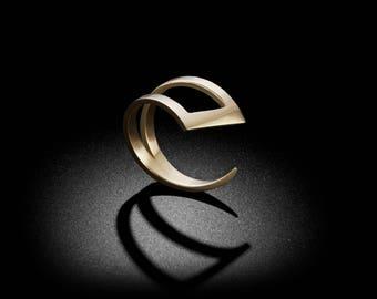 Open Slice Gold Ring