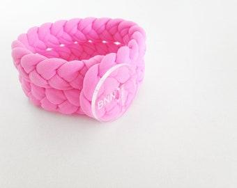 braided bracelets for women, bracelet stack, fabric jewelry, black braided bracelet, friendship gift, pink braided bracelet, bracelet stacks