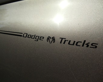 Dodge Ram Trucks Pin Stripe Insert Decals + Your choice of color
