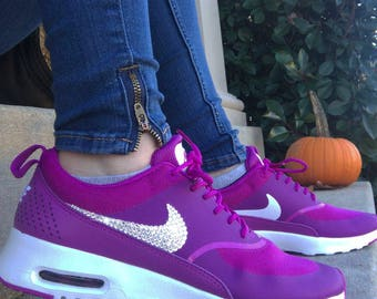 Swarovski Nike Air Max Thea Purple Shoes