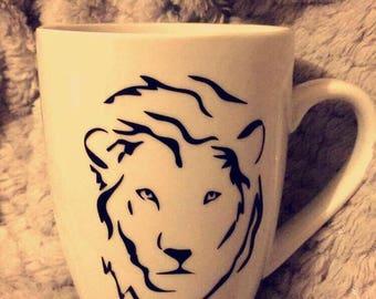 MUG, cat, Lion, giraffe, bear