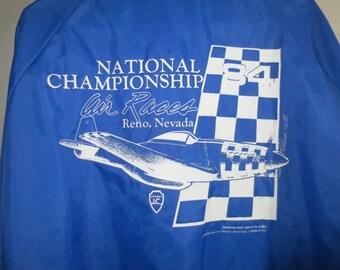 Sale***1984 AIR RACES, Reno // Pla-Jac Nylon Windbreaker // National Championship...XL