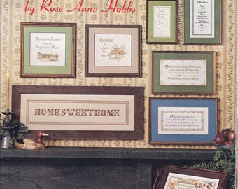 Glowing Hearth Counted Cross Stitch Designs Rose Ann Hobbs