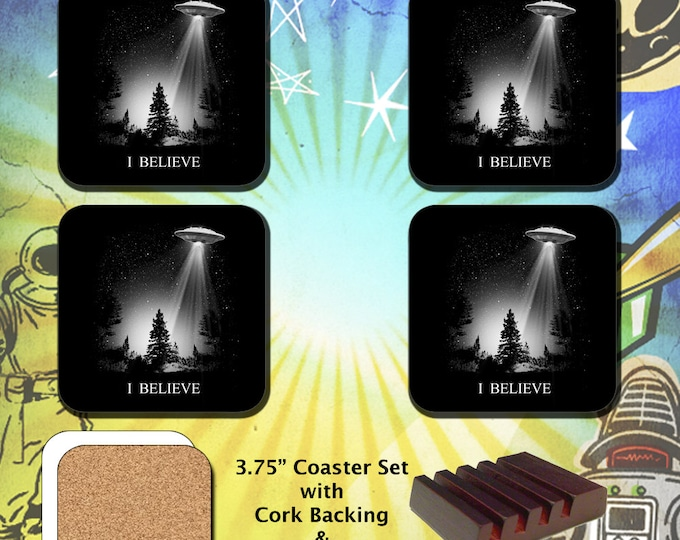 The X-Files / I Believe UFO Abduction / Coaster Set