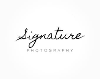 Signature Logo Design, Handwriting Logo, Script Font Logo, Photography Logo, Premade Logo