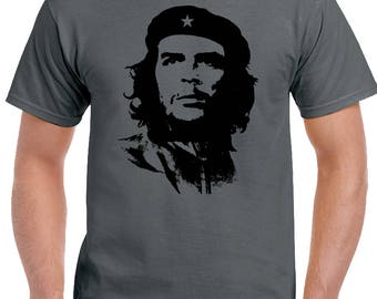 Che Guevara Face Silhouette - Mens Iconic T-Shirt Freedom Fighter Cuba 1580