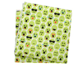 Pocket Square - Brain Emoji - Green