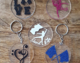 "2"" round acrylic Key Chains"