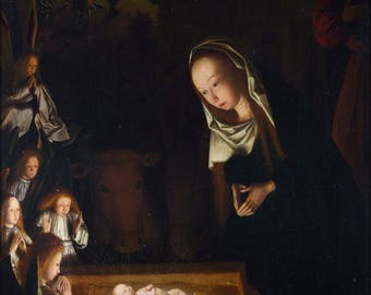Poster, Many Sizes Available; Birth Of Jesus Christ By Geertgen Tot Sint Jans C1490