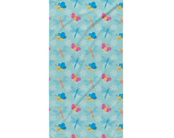 Garden Bug Beach Towel - Style 8 - Cute  Dragonflies