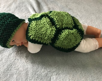 Infant turtle costume or photo prop
