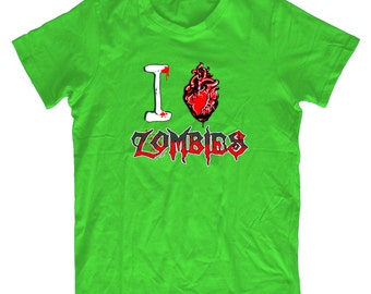 I Love Zombies H39 T-Shirt - Mens Funny T shirt Humorous Birthday Gift Comedy Quality, Zombie Fan