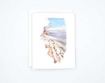 Illinois Notecards - Illinois State Art - Blank Notecards - Watercolor Notecards - Illinois Gift - Illinois Wedding - Stocking Stuffer