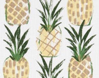 Pineapple Table Runner - Premier Prints Tropic Pine Slub Canvas - Made to Order in 8 Lengths - Long Table Runner - Beach or Tropical Decor