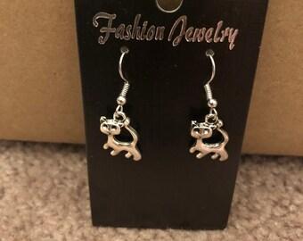 Cat Dangle Earrings