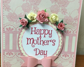 Victorian Mother's Day Card, Twist Pop-Up Mother's Day Card