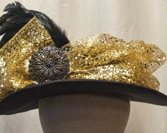 Black and Gold Edwardian Hat