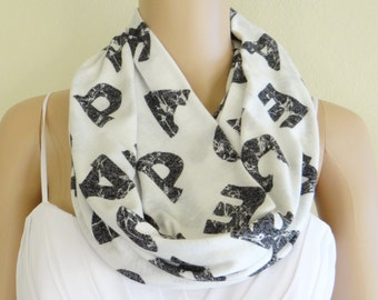 Infinity Scarf. Loop Scarf. Soft Cotton Scarf.