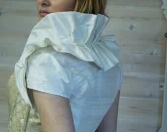 Victorian Inspired Silk Bridal Bolero