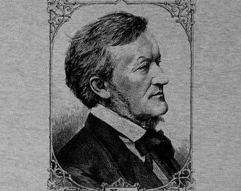 Richard Wagner German Composer Screen Printed  Shirt