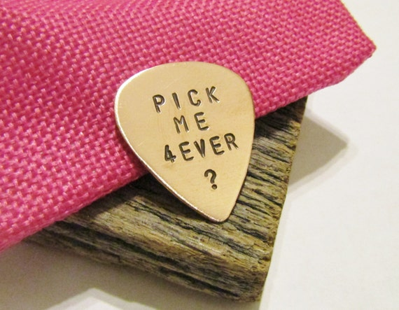 Marriage Proposal Gift For Musician Guitar Pick