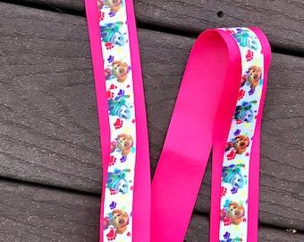 paw patrol bow holder Skye and Everest paw patrol bow holder bow holder pink and purple hair clip holder