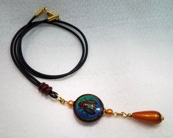 Bee Moody Mood Necklace OOAK - Free Shipping within the U.S.