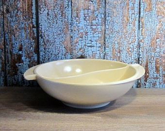 Boonton divided serving bowl - Light Brown
