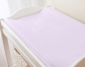 Carousel Designs Solid Lilac Changing Pad Cover