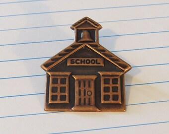 Schoolhouse Pin Copper Teacher Principle School House PC005