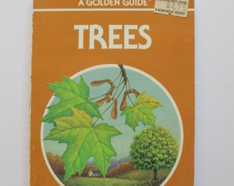 Vintage Full Color Trees Golden Nature Guide Book 1987