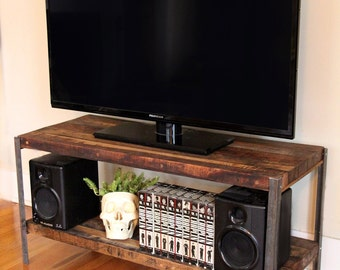 Custom Made Media Console In Reclaimed Wood * FREE SHIPPING