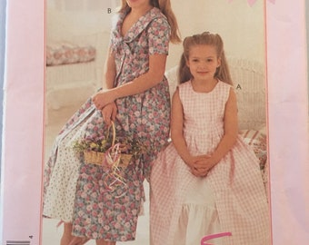 8146 McCalls Girls Dress and Petticoat 1996 Vintage Sewing Pattern sz 2-6