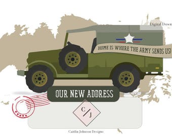We've Moved - Vintage Army Truck - Digital Download