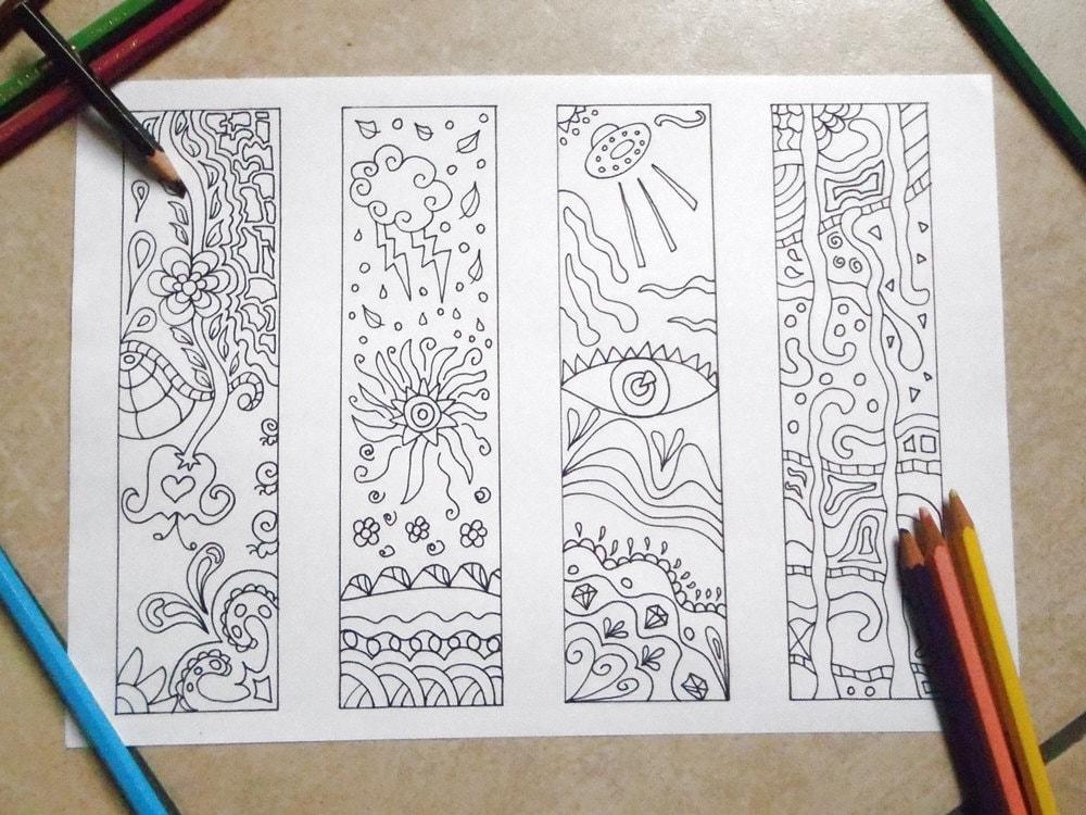 Estremamente segnalibri da colorare doodle da stampare colorare e regalare WE23